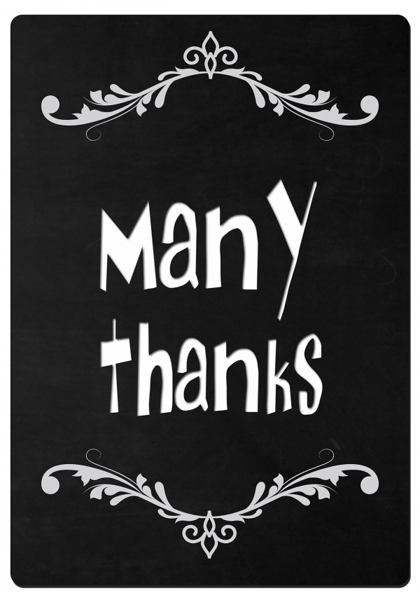 thank you many thanks postcard mypostcard