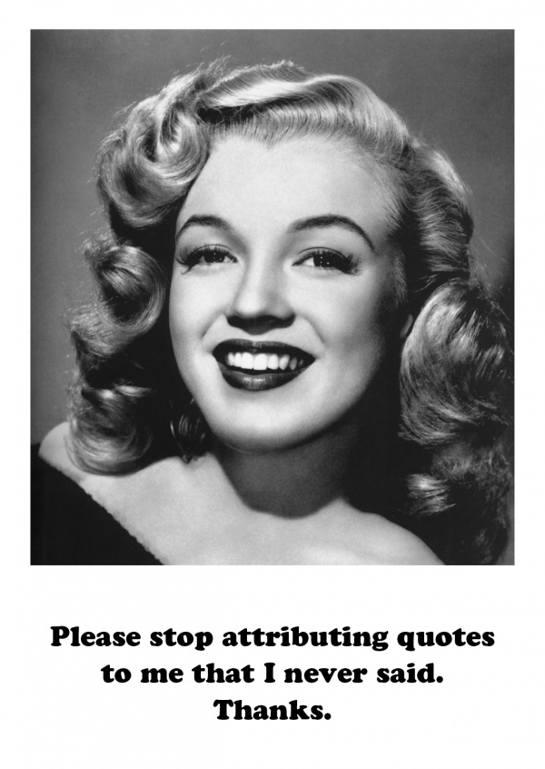 Photo Marylin Monroe quote