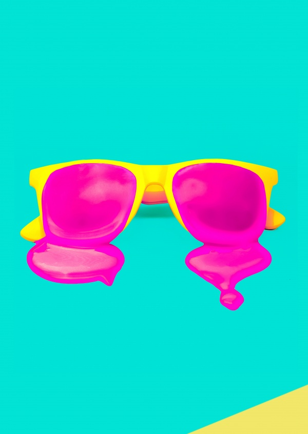 Kubsitika meltin sunglasses in neoncolours