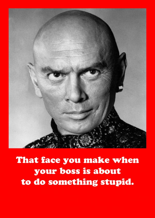 photo Yul Brynner saying