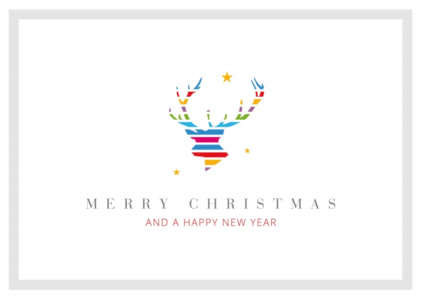 Meridian Design Merry Christmas & a Happy New Year deer