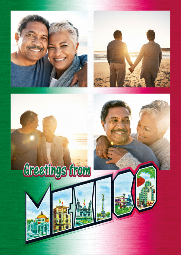 Large Letter Postcard Site Greetings from Mexico
