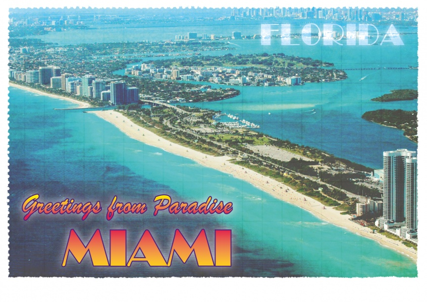 Miami – Greetings from Paradise Florida | Vacation Cards & Quotes 🗺️🏖️📸  | Send real postcards online