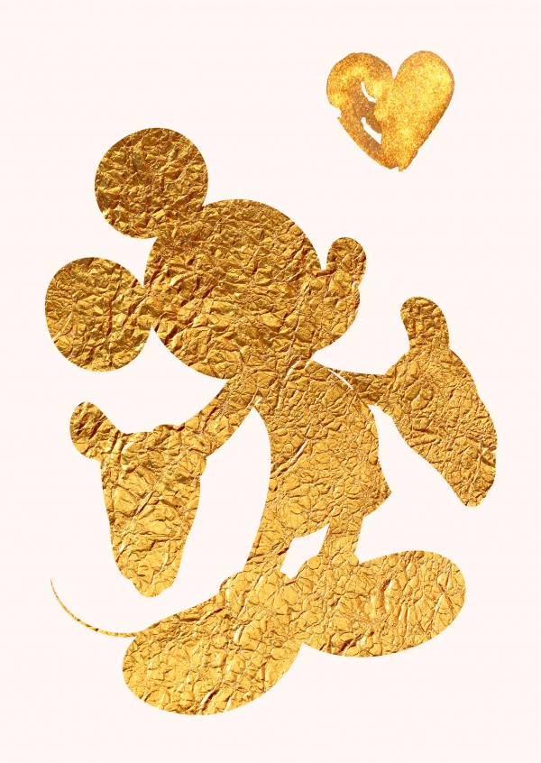 Kubistika goldene Mickey Mouse
