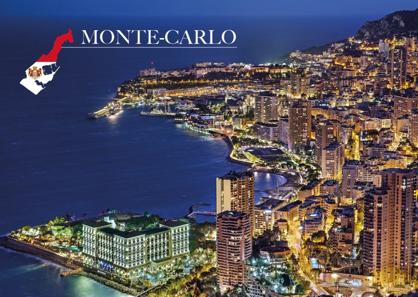 photo Monte-Carlo port by night