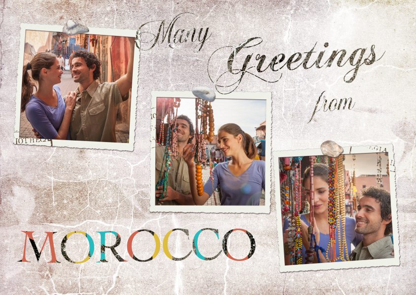 Many greetings from Morocco