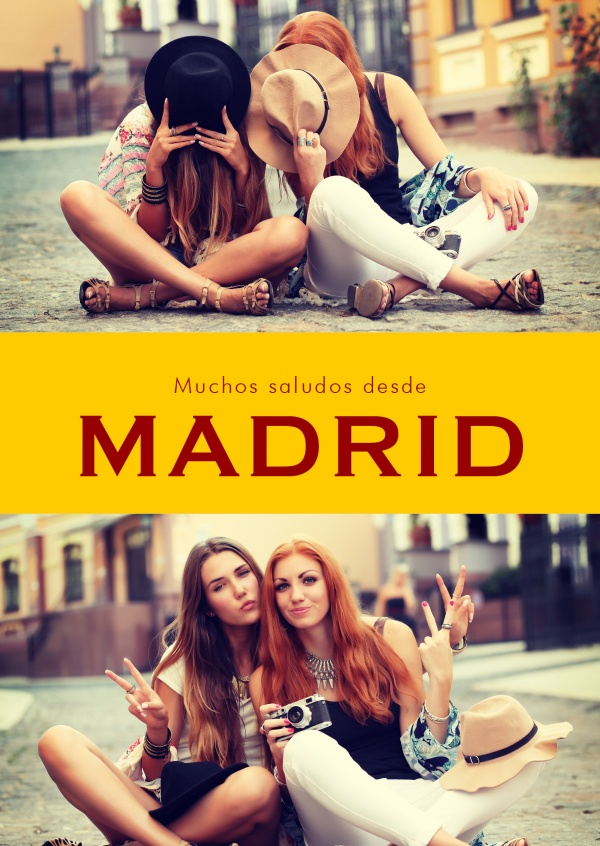 greetings from Madrid in Spanish