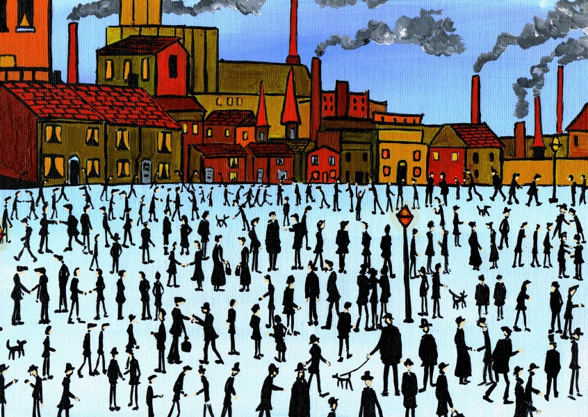 Illustration South London Artist Dan my Lowry painting