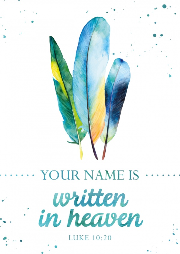 postcard Your name is written in heaven