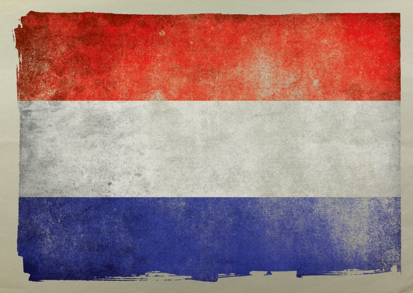 Postcard flag of Netherlands