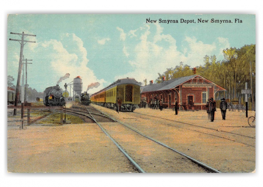 New Smyrna Florida Depot and Trains