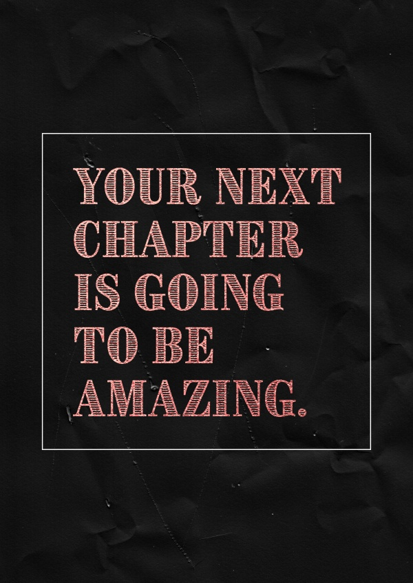 Spruch Your next chapter is going to be amazing