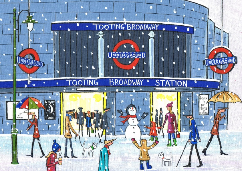 Illustration du Sud de Londres, l'Artiste Dan Noël à Tooting
