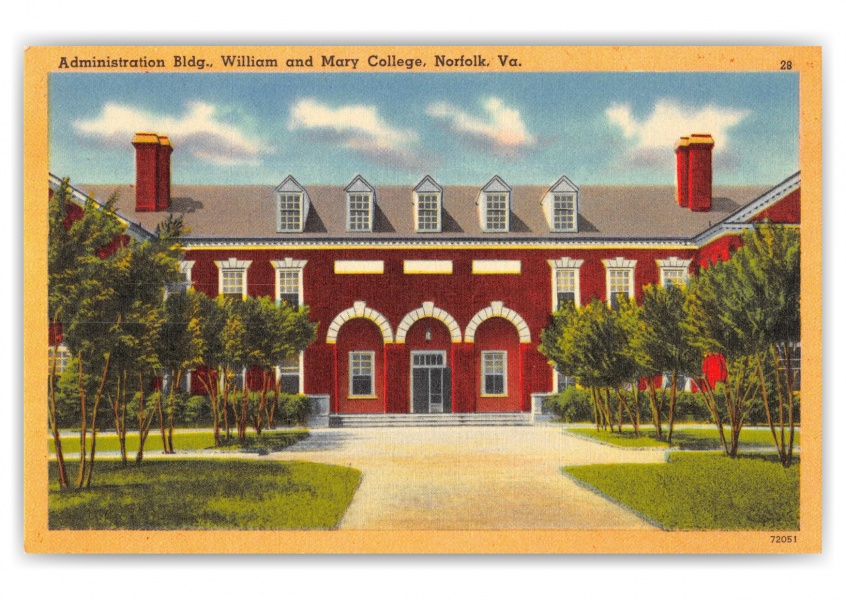 Norfolk, Virginia, Administration Building, William and Mary College