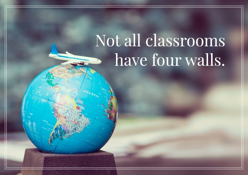HI USA Not all classrooms have four walls Spruch