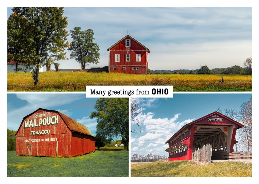 Fotocollage Ohio Landleben