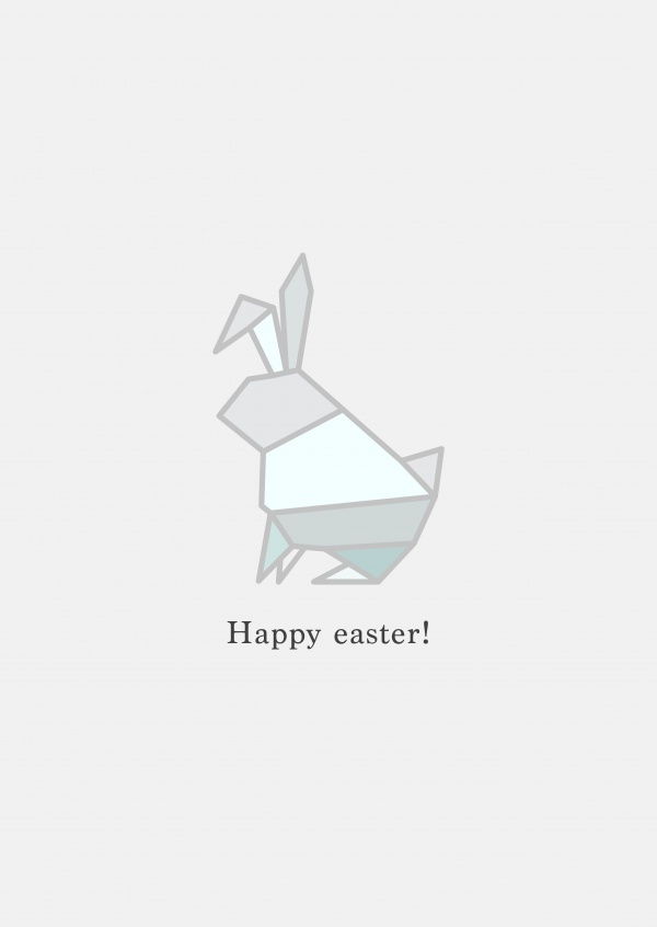 Origami Bunny, Happy Easter