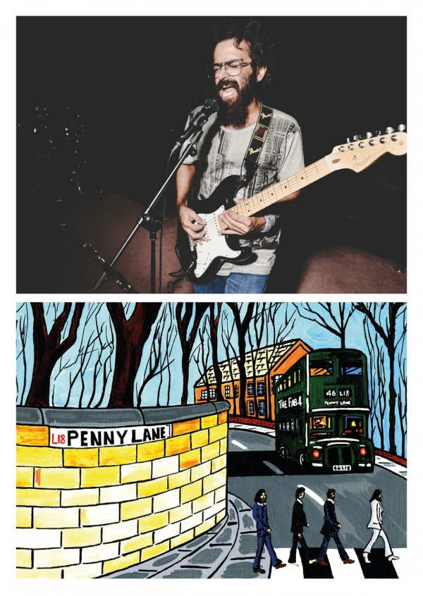 Illustration Du Sud De Londres, L'Artiste Dan Penny Lane