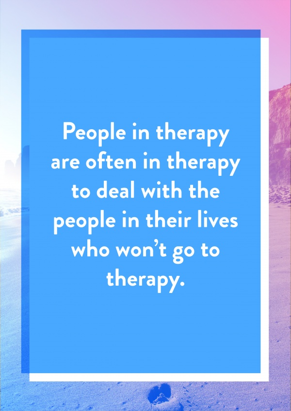 People in therapy