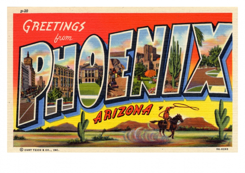 Curt Teich Postcard Archives Collection  greetings from Phoenix, Arizona