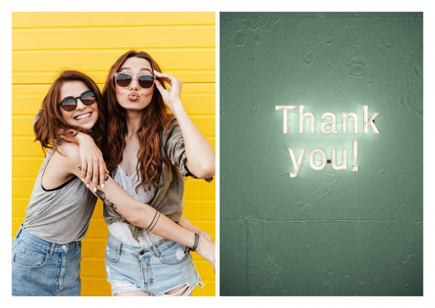 photo neon sign thank you
