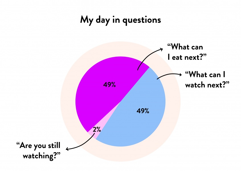 Pie chart - My day in questions