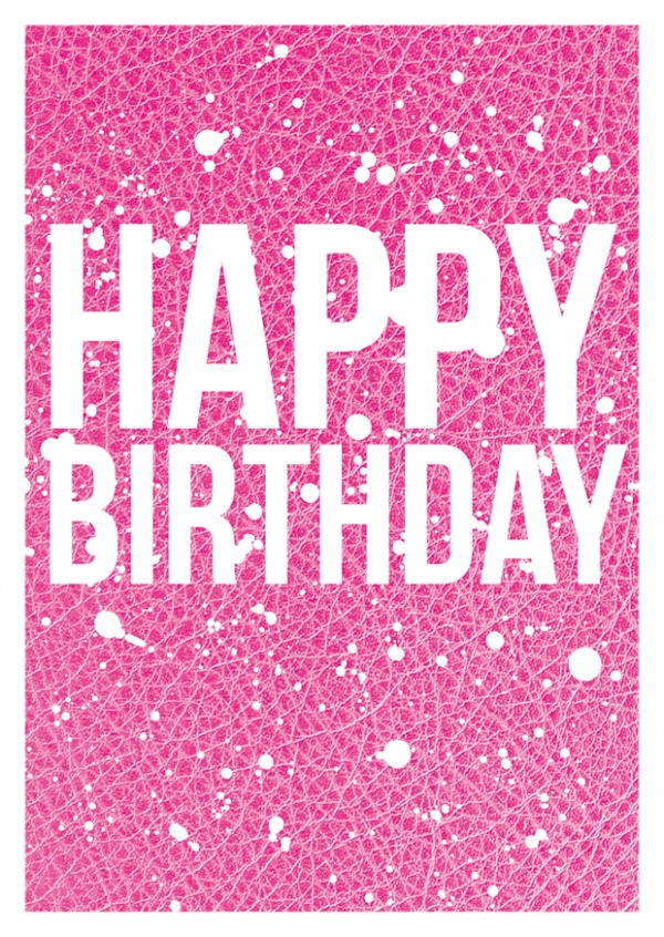 birthday wishes on pink leather - Send Birthday Card