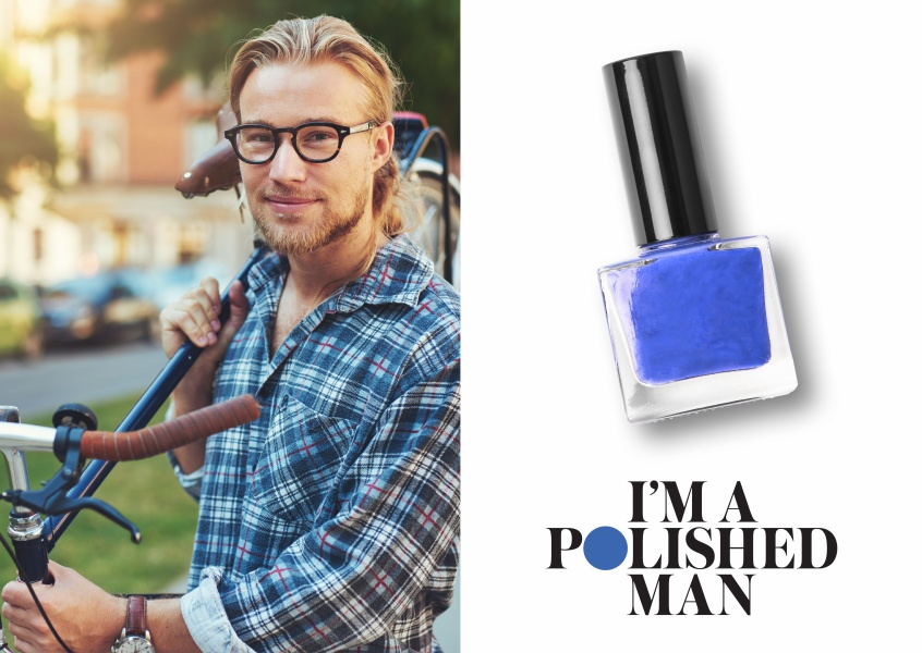 POLISHED MAN - Blue Nail Polish | POLISHED MAN | SEND A POSTCARD