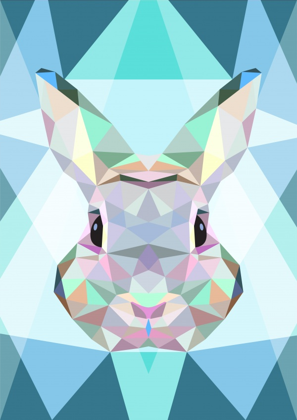Polygonale Hase