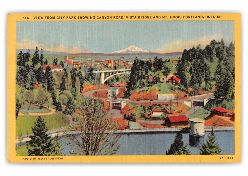 Portland, Oregon, view from city park