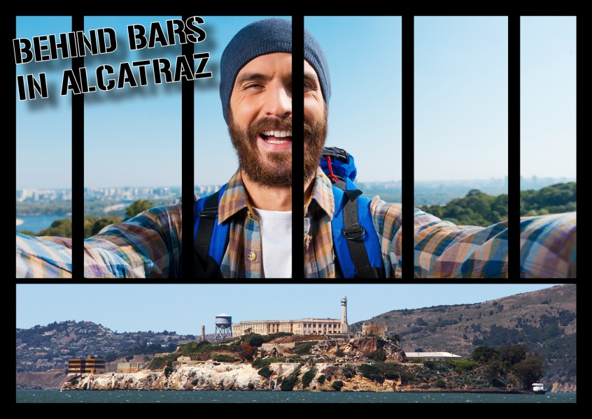 Photo Aclatraz with prison bars