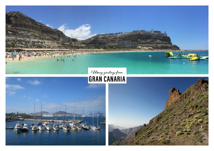 Gran Canaria greeting card collage