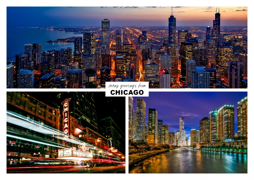 Three photos of chicago