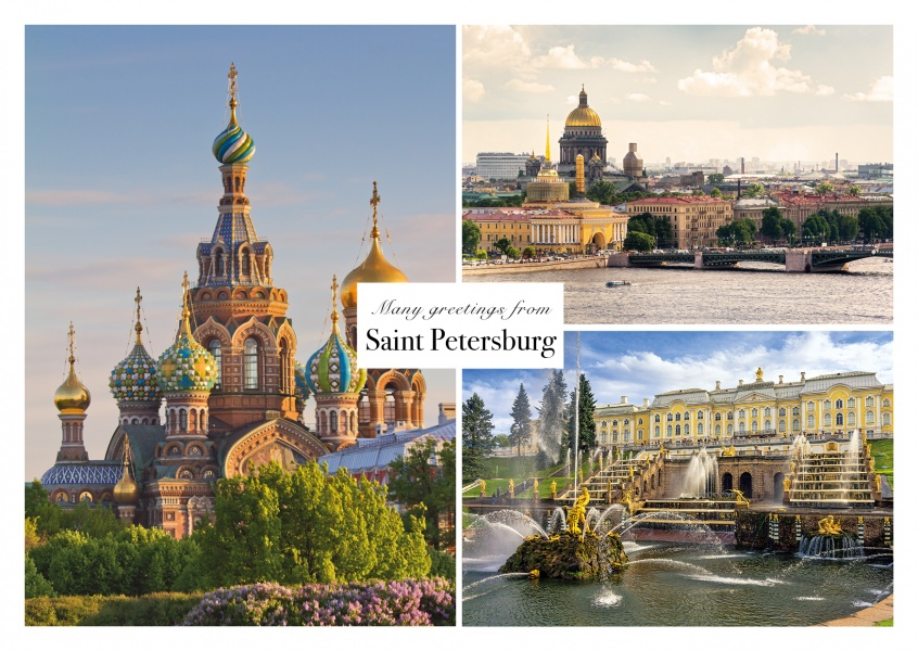 Postcard collage saint petersburg