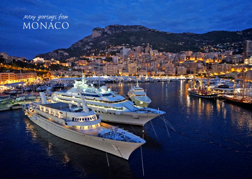 photo of monaco at night