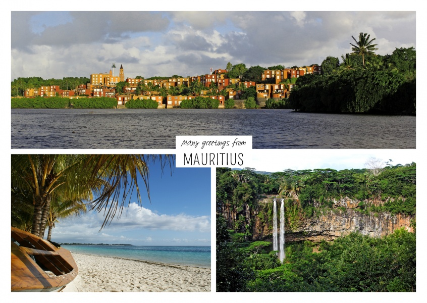 Three photos of Mauritius