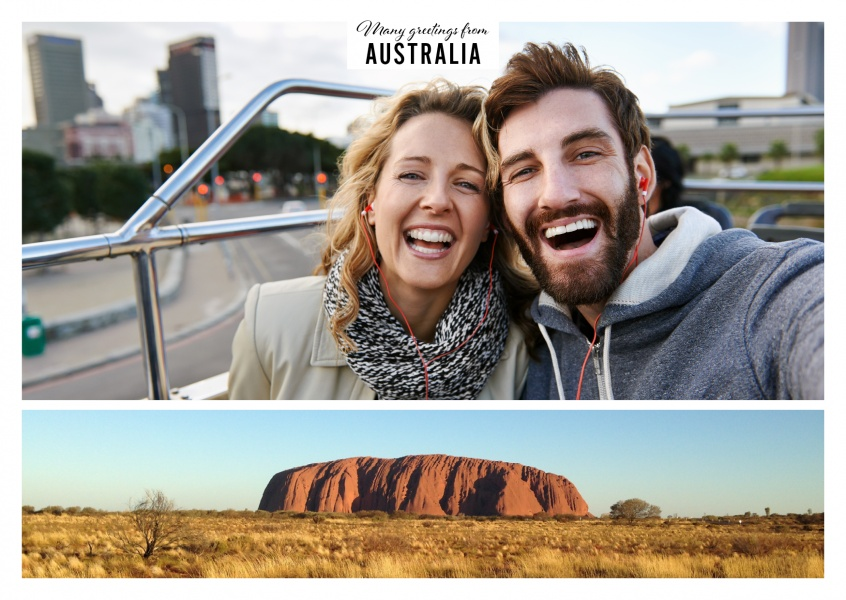 Australia says hello with rainbow valley vacation greetings send personalizable greeting card from australia with photo of rainbow valley m4hsunfo