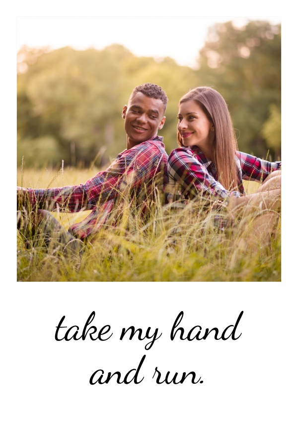 Personalizable love statement postcard