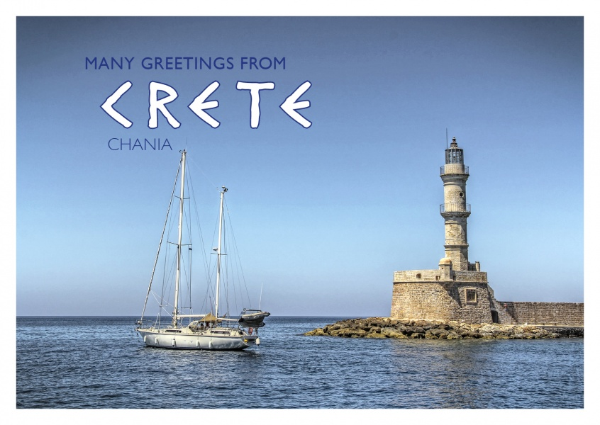 photo of famous Chania lighthouse of Crete