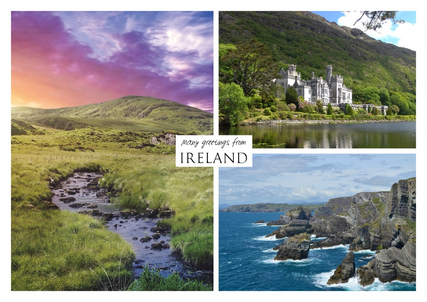 triple collage of landscape photography from Ireland