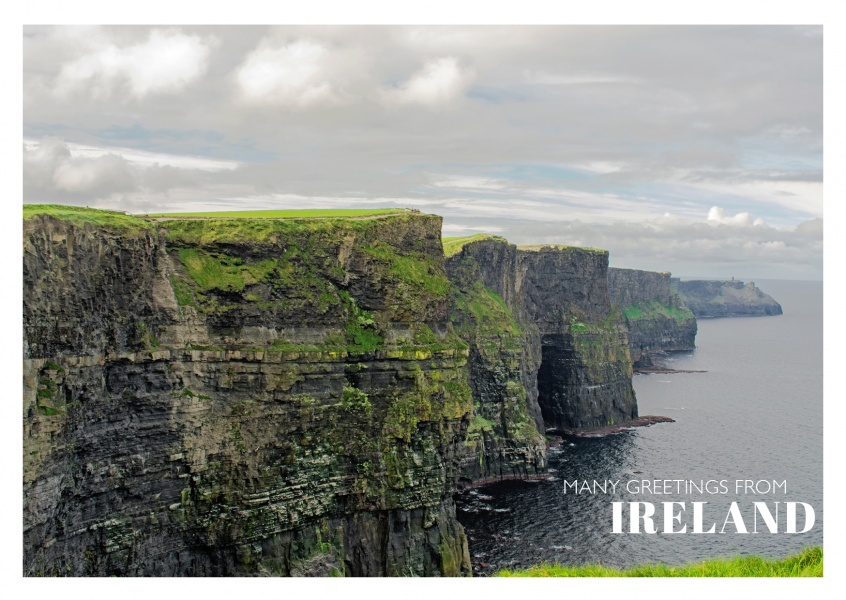 Ireland cliffs of moher vacation greeting cards send real photo of moher cliff ireland m4hsunfo