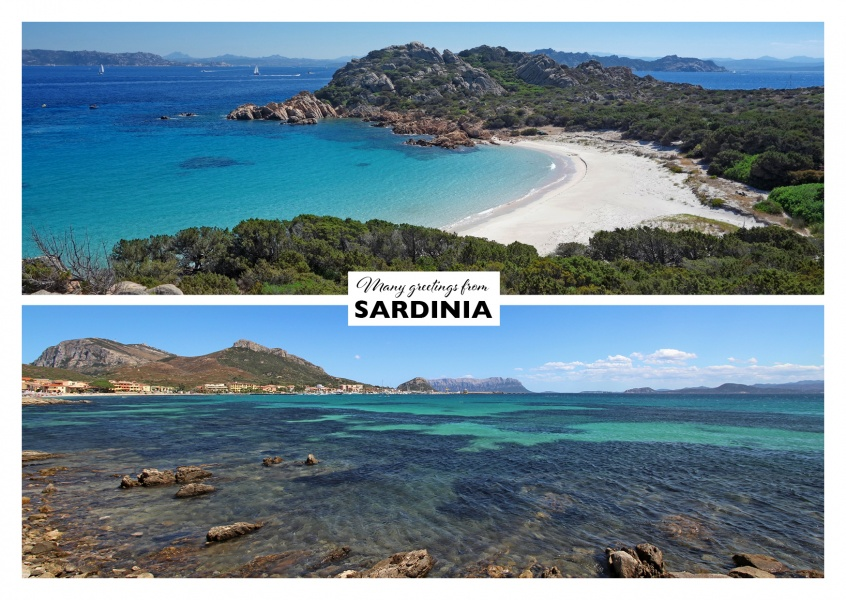 panoramic photocollage of sardinia