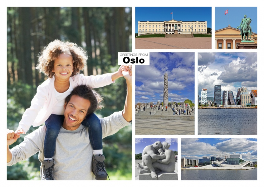 oslo photocollage showing the city's main places of interest