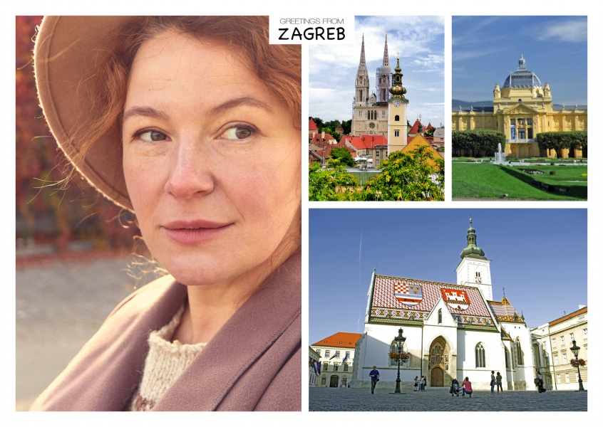 multi picture photocllage of Zagreb's main landmarks