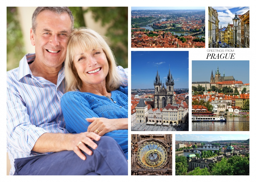 photocollage of ancient, glorious Prague
