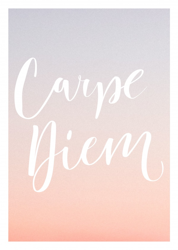 Trendy Handlettering On Pastel Coloured Background