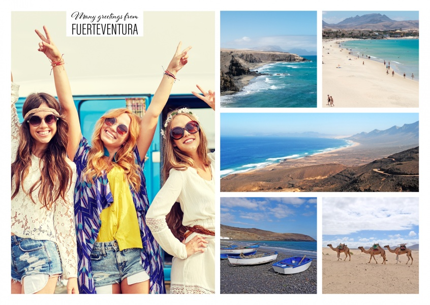 Countrysides of Fuerteventura as a Collage