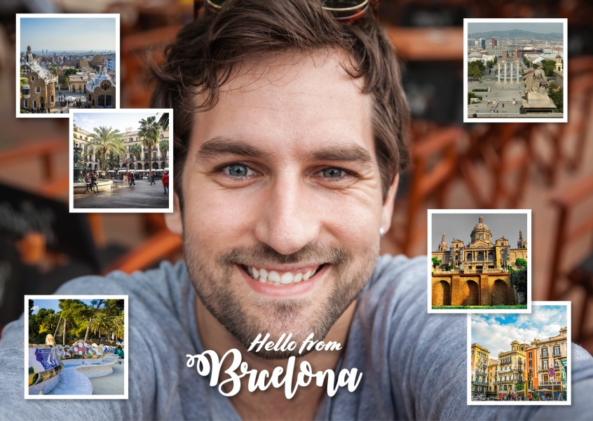 photocollage of Barcelona's places of interest