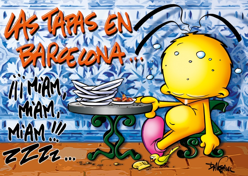 Le Piaf Cartoon Las Tapas en Barcelona