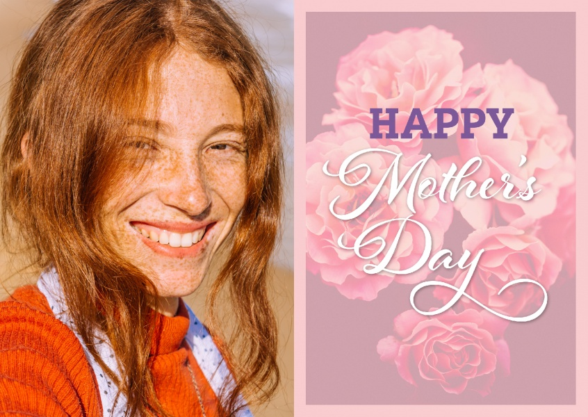 Happy mother's day in fliederbarbenem Design